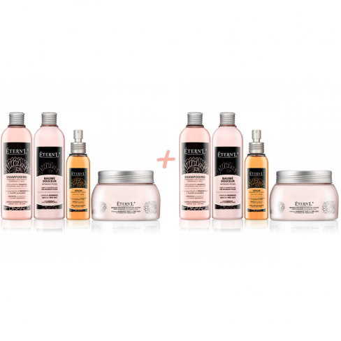 Etern'l double set: Shampooing, sérum, baume et masque